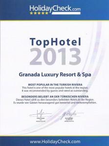 HolidayCheck 2013 TopHotel